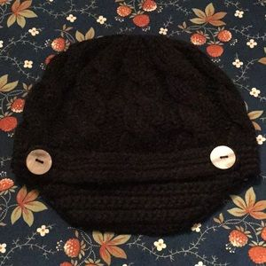 Accessories - Knit Black Hat